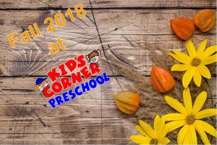 Fall Activities at Kid's Corner Preschool and Daycare