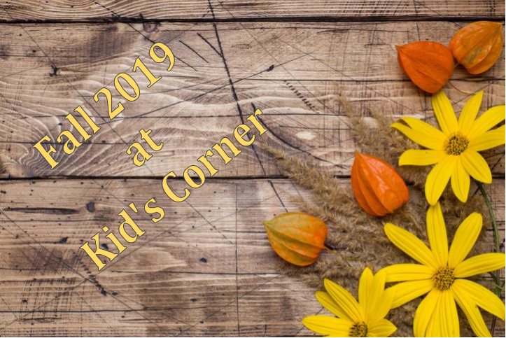 Fall Calendar 2019 at Kid's Corner Preschool & Daycare